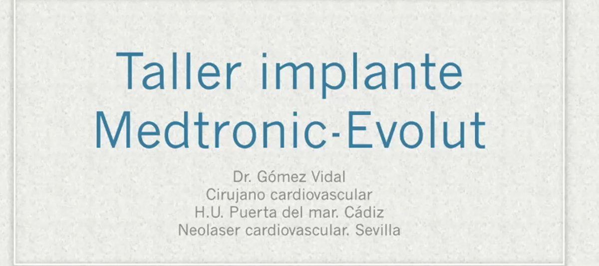 Dr. Gómez Vidal - Evolut -PRO presentación